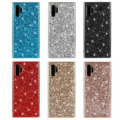 For Samsung Galaxy Note 10 Plus A50 S10 S9+ Bling Sparkle Hybrid Slim Case Cover