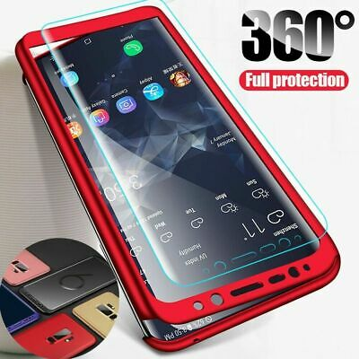 360° Full Cover Hybrid Case+Front Glass Screen for Samsung A70A60A50A40A30A20A10