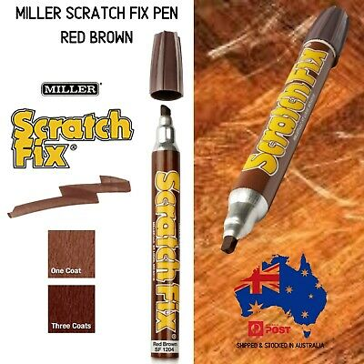 Miller Scratch Fix Pen Red Brown Furniture Touch Up Marker Pen