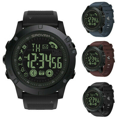 T1 Digital Smart Bluetooth Sport Watch Military IP68 LED Backlight iOS Android F