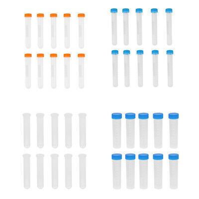 10x Plastic Centrifuge Tube Pipes Vial Lab Test Containers 10/15/20/50ml