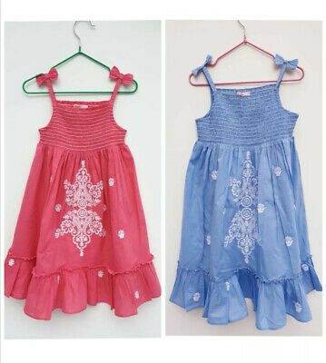 Girls Embroidered Sun Dress Ex Monsoon Accessorize Angels Age 4-12 Years RRP £19