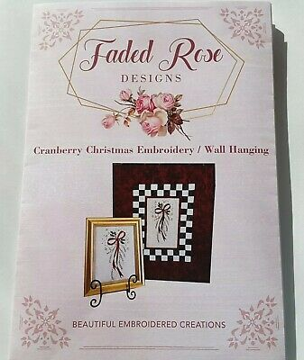 Embroidery Pattern - Cranberry Christmas by Faded Rose Designs