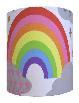 Clouds and Rainbows Large Fabric Light Shade