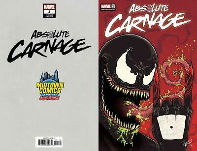Absolute Carnage #1 Midtown Exclusive Donny Cates Variant Cover 2019
