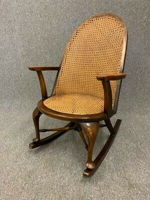 Antique Mahogany Beregere Rocking Chair High Back Armchair - Delivery Available