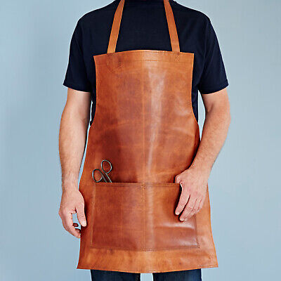 Fair Trade Handmade Distressed Leather Apron - 2nd Quality