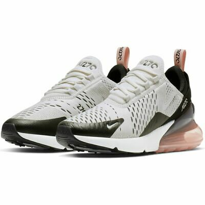 best cheap 771cd 379d4 JUNIORS NIKE AIR Max 270 GS Trainers Shoes White Grey 943345 010 Size UK 4.5