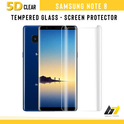 For Samsung Galaxy Note 8 5D Tempered Glass Screen Protector Clear Case Friendly