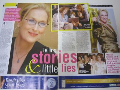 MERYL STREEP**2 Page JUNE 2019*Australian Magazine Clipping Interview*