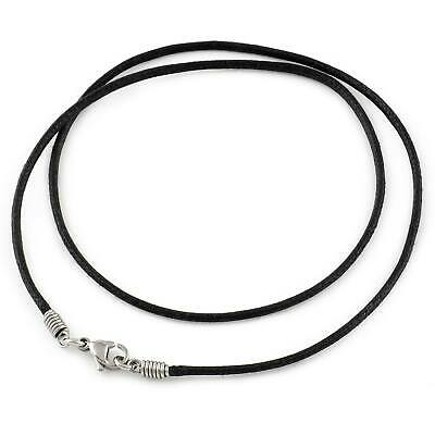 2mm Waxed Cotton Cord Necklace
