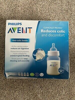 Philips Avent Anti Colic Bottle, BPA Free, 4 Wide Neck Bottles, 9 Oz (Pack of 3)