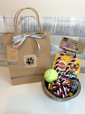 Dog gift pet hamper treat / toy doggy bag New homemade