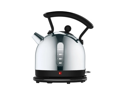 Dualit Stainless Steel & Black 1.7L Cordless Dome Kettle