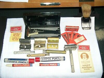 Vintage Lot Gillette Razor, Safety Razors With Vintage Extras, Nice Smorgasbord!