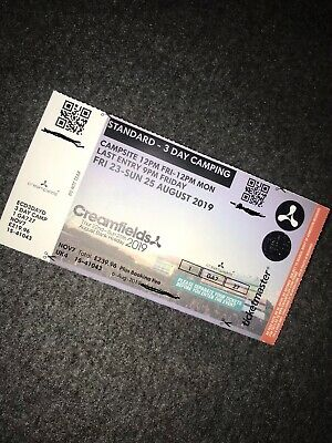 Creamfields 2019 3 Day Standard Camping Ticket X1