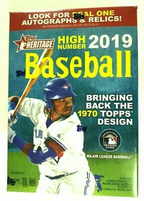 2019 Topps Heritage High Number Baseball Factory Sealed Blaster Box
