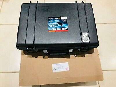 PELICAN Case Double Locking w/Keys Black 1490-001-110 Watertight Crush Proof NEW