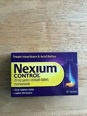 NEXIUM CONTROL 20mg GASTRO-RESISTANT TABLETS 14 PACK BNIB *ONE A DAY* EXP 2021