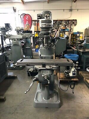 "Bridgeport Step Pulley Milling Machine With Power Feed.  9"" X 42"""