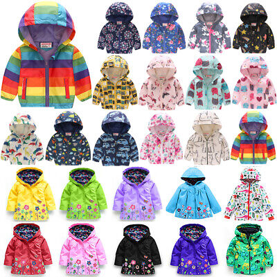 Toddler Kids Girls Winter Clothes Waterproof Floral Hoodie Coat Jacket Outerwear