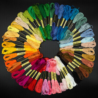 24/50/100Pcs Embroidery Thread Cross Stitch Cotton DIY Floss Skeins Sewing Apt