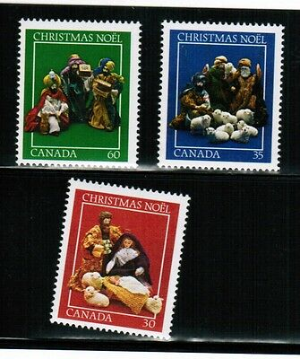 CANADA  1982 CHRISTMAS COMBO  3 STAMPS  MNH  cat # 973-5   BOOK 500