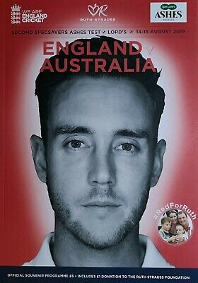 BRAND NEW CHEAP Ashes England v Australia 2019 2nd Test Match Programme Lord's