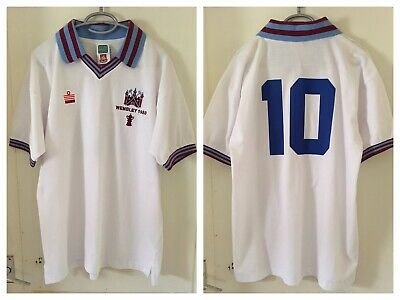 West Ham United Official Retro Shirt Fa Cup Final 1980 Shirt Large Brooking #10