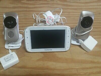 """Motorola MBP845CONNECT 5"""" Video Baby Monitor with 2 Wi-Fi Viewing,Digital Zoom C"""
