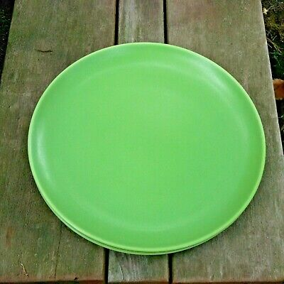 "Set of 4 Hogana's Keramiks NILSSON Green Dinner Plates 10-1/4"" Sweden"