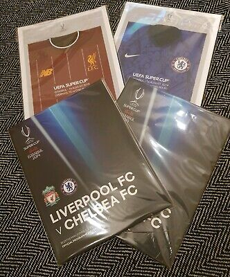 2019 - UEFA SUPER CUP FINAL PROGRAMME LIVERPOOL vs CHELSEA + FREE POSTER!