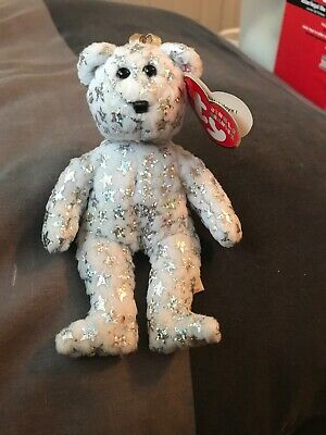CLUBBY 4 the Bear - MWMTs Holiday Ornament Toy 5 inch TY Jingle Beanie Baby