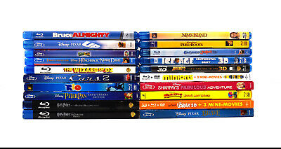 """(Lot of 20) Assorted """"Children & Family"""" Bluray Movies Collection (0570)"""