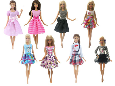 Barbie Doll Dress Clothes Gown Dresses Skirt Fashion Vintage Casual Outfit 11 in