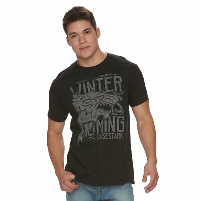 Game Of Thrones WINTER IS COMING HOUSE STARK DIREWOLF T-Shirt GOT NWT Licensed