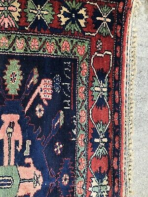 Antique 19th Century Dated Lilihan Rug 5x7 Rare