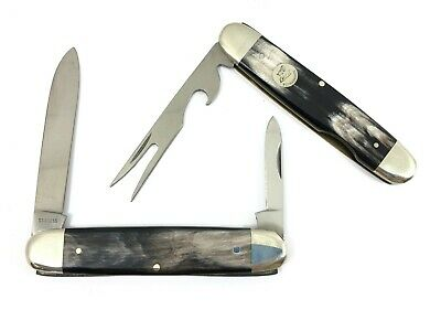 Weidmannsheil Hobo Knife HORN Take Apart Fork Bottle Opener GERMANY 3463-RP