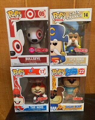 Funko Pop Flocked Bullseye Target Exclusive / SOLD OUT / AD Icons Lot Set Rare 4