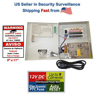 18 channel 12v DC CCTV Power Supply Box Security Camera Switch Adapter New bpc