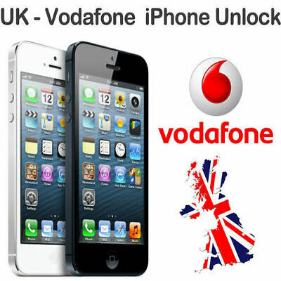 VODAFONE UK FACTORY UNLOCK SERVICE CODE for iPhones 5/5s/5c/SE/6/6s/7,8+,X XS UK