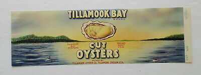 TILLAMOOK BAY Oysters Can Label