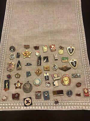 Soviet Pins And Coins Collection