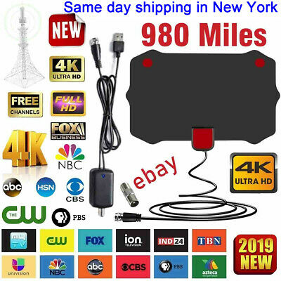 980 Mile Range Antenna TV Digital HD Skywire 4K Antena Digital Indoor HDTV 1080p