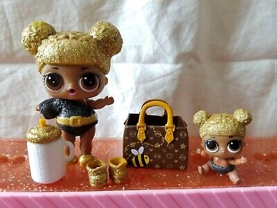 Lol Surprise Doll Queen Bee 🐝 Glitter Series Ultra Rare And Lil Queen Bee 🐝