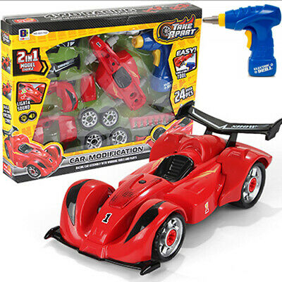 Racing - Take Kit Own Your Build Construction Toy F1 Car Lights Apart 2 in 1