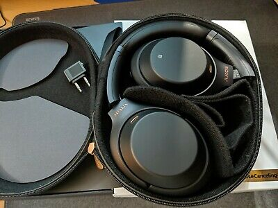 Sony WH-1000XM3 Wireless Noise Canceling Headphones - Black   hardly touched