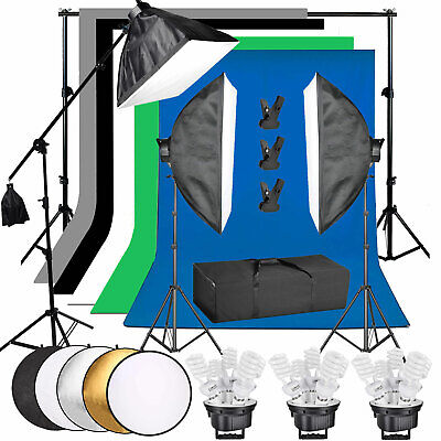 Photography Studio Continuous Lighting Softbox Boom Arm Background Stand
