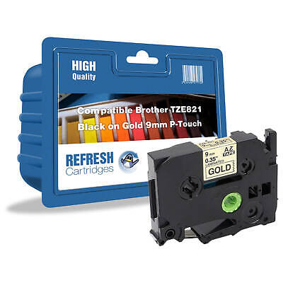 REFRESH CARTRIDGES TZe-821 COMPATIBLE WITH BROTHER LABEL PRINTERS