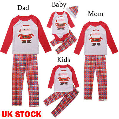UK XMAS PJs Family Matching Adult Women Kids Christmas Nightwear Pyjamas Pajamas